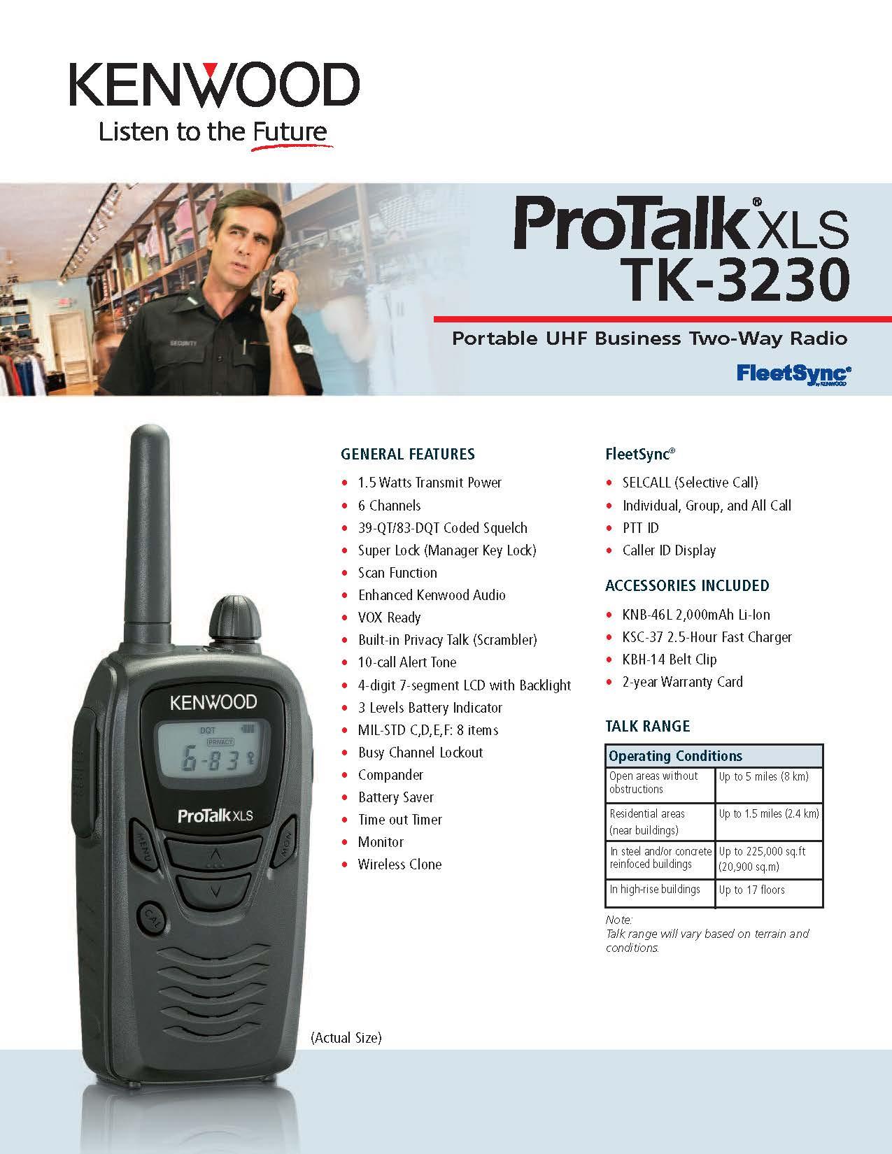 TK-3230 Spec Sheet