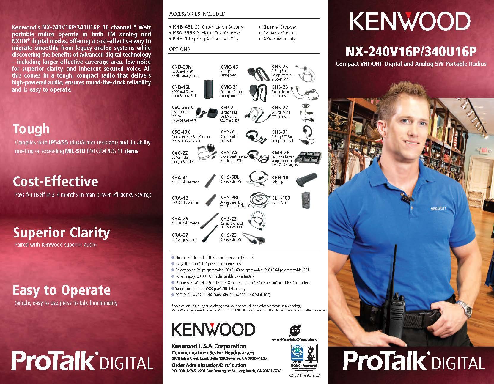 NX-240V16P/340U16P Brochure