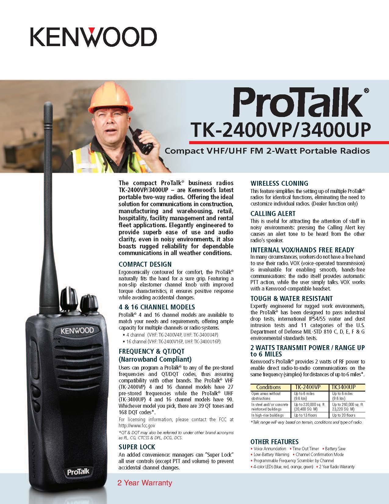 TK-2400VP/3400UP Spec Sheet