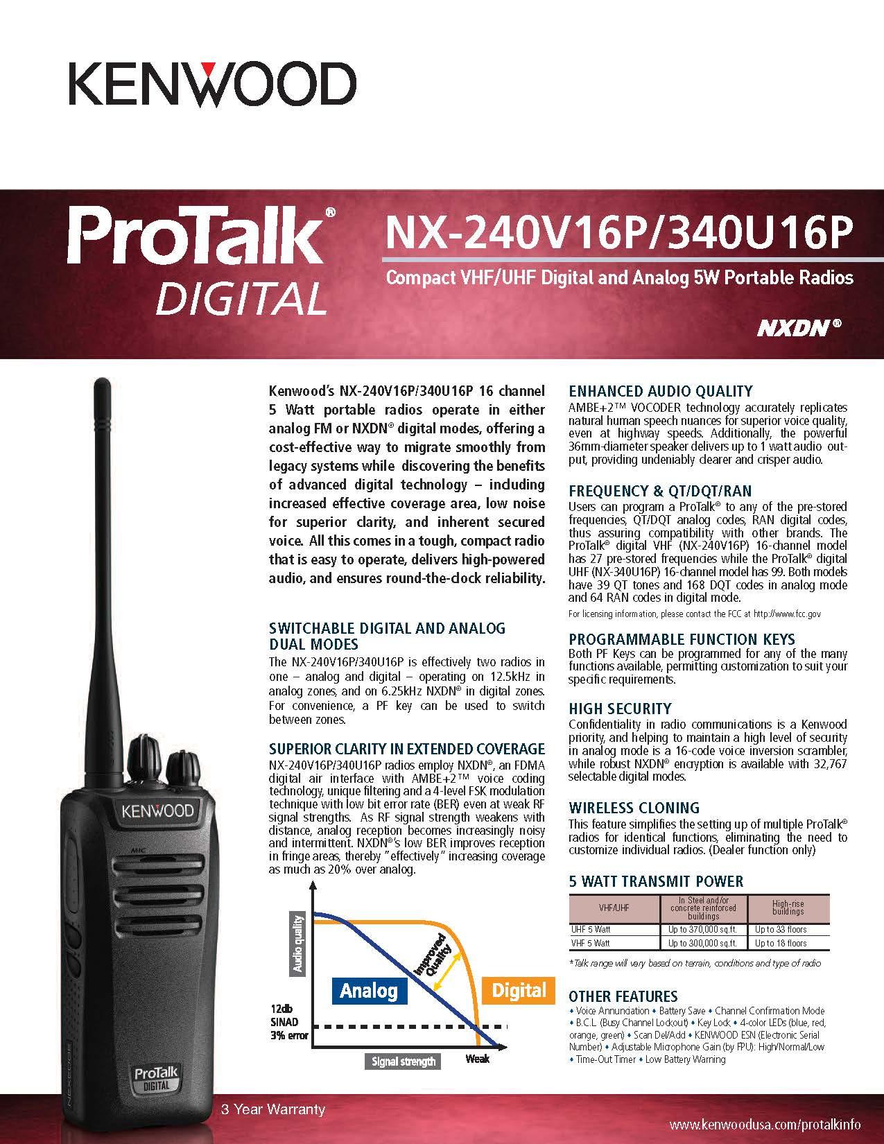 NX-240-340 Spec Sheet